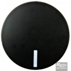 Knoflík čočkový černý, s ryskou  683