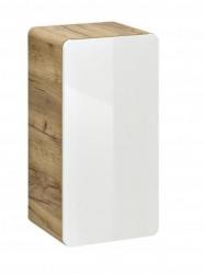 Koupelnová skříňka nízká Aruba 810, 75x35x32 cm, dub/bílá lesk