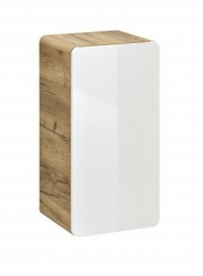 Koupelnová skříňka závěsná Aruba 830, 75x35x20 cm, dub/bílá lesk