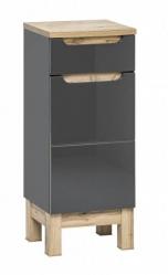 Comad Koupelnová skříňka nízká Bali Grey 810, 35x86x33 cm, tmavě šedá/dub