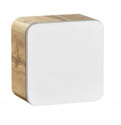 Koupelnová skříňka závěsná Aruba 831, 35x35x20 cm, dub/bílá lesk