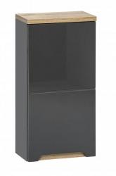 Koupelnová skříňka závěsná Bali Grey 830, 70x35x20 cm, tmavě šedá/dub