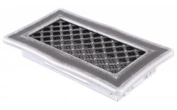 Krbová mřížka 10x20cm DECO stříbrná patina HSF06-199