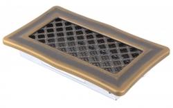 Krbová mřížka 10x20cm DECO zlatá patina HSF06-187
