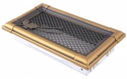 Krbová mřížka 10x20cm RETRO zlatá patina - HSF06-049