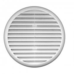 2VV Kruhová větrací mřížka C-UM-S-S se síťkou a pružinou, bílá