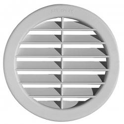 2VV Kruhová plastová větrací mřížka BC s klapkou, bílá, ∅ 106 mm