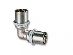 Lisovací koleno pro potrubí PEX IVAR.K AC2, 17x17