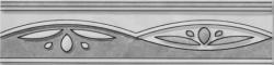 Listela Multi Laura šedá 6x25 cm, lesk