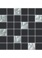 Mozaika Dekorace Esten Bianco/grafit Řez. K.4,8x4,8 29,8x29,8