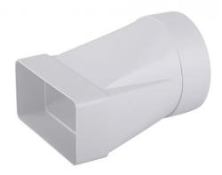 2VV MULTI-PLAST Plastový přechod pravoúhlý čytřhran/kruh