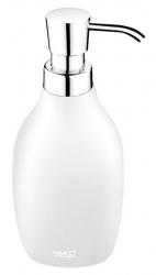 NIMCO Ava Dávkovač na tekuté mýdlo, bílá/chrom, 280 ml