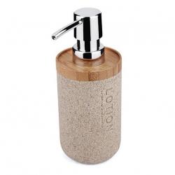 NIMCO Kora Dávkovač na tekuté mýdlo 270 ml, pískově béžová/bambus