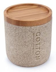 NIMCO Kora Dóza na kosmetické tampóny, pískově béžová/bambus