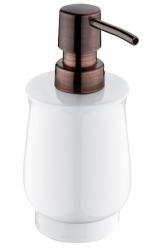 NIMCO Lada Dávkovač na tekuté mýdlo, bílá/staroměď, 300 ml