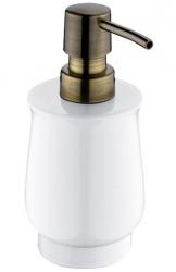 NIMCO Lada Dávkovač na tekuté mýdlo, bílá/staromosaz, 300 ml