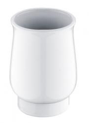 NIMCO Lada Keramický pohárek na zubní katáčky, bílá