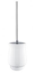 NIMCO Lada Keramický volně stojící WC kartáč, bílá/chrom