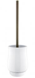 NIMCO Lada Keramický volně stojící WC kartáč, bílá/staromosaz