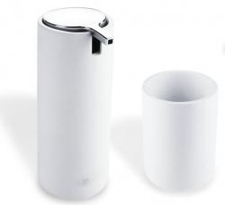 NIMCO Omi Sada koupelnových doplňků, bílá/chrom