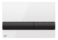 Alcaplast Ovládací tlačítko pro předstěnové instalační systémy (bílá/černá) M1710-8