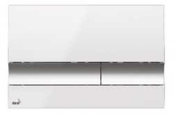Alcaplast Ovládací tlačítko pro předstěnové instalační systémy (bílá-chrom/lesk) M1720-1