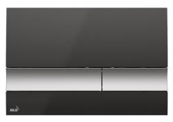Alcaplast Ovládací tlačítko pro předstěnové instalační systémy (Černá/chrom-mat) M1728-2