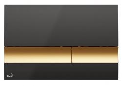 Alcaplast Ovládací tlačítko pro předstěnové instalační systémy (černá/zlatá) M1728-5