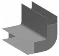 Atrea PPK Podlahový přechod 160 x 40 / 90° obloukový R121400