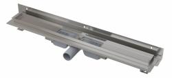 Alcaplast Podlahový žlab APZ104-1150 Flexible Low s okrajem pro perforovaný rošt a s nastavitelným límcem ke stěně, délka 1150 mm