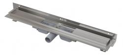 Alcaplast Podlahový žlab APZ104-550 Flexible Low s okrajem pro perforovaný rošt a s nastavitelným límcem ke stěně, délka 550 mm