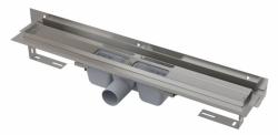 Alcaplast Podlahový žlab APZ4-850 Flexible s okrajem pro perforovaný rošt a s nastavitelným límcem ke stěně, délka 850 mm