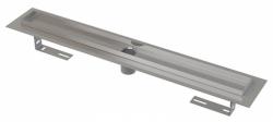 Alcaplast Podlahový žlab APZ2001-650 s okrajem pro perforovaný rošt, bez zápachové uzávěry, délka 650 mm