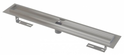 Alcaplast Podlahový žlab APZ2001 s okrajem pro perforovaný rošt, bez zápachové uzávěry, délka 850 mm