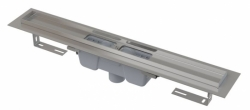 Alcaplast Podlahový žlab APZ1001-950 s okrajem pro perforovaný rošt, svislý odtok, délka 950 mm