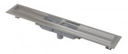 Alcaplast Podlahový žlab APZ1101-300 Low s okrajem pro perforovaný rošt, svislý odtok, délka 300 mm