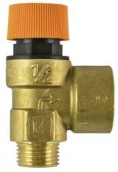 """Pojistný ventil 6 bar M/F SOL, 1/2""""Mx3/4""""F, 6 bar, max 150°C"""