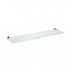 JIKA Polička skleněná Basic, 40 cm, chrom H3853A10040001