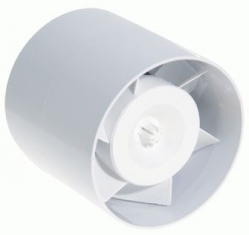 Potrubní axiální ventilátor TUBO, plast, 230V