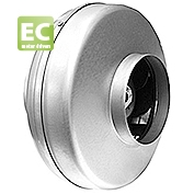 Potrubní radiální kovový ventilátor CK EC pro delší kruhové rozvody, 230V