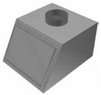 Atrea PKJ Přechod komora 500 x 400 ø 160 pro rozdělovací komoru RKJ 500x400 R146046
