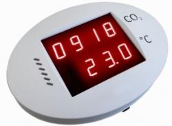 Protronix Čidlo kombinované CO2 + teplota, LCD display, zvukový ALARM  IS-CO2-P
