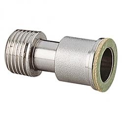 Giacomini R173P Nastavitelné prodloužení pro ventily s rovnou těsnící plochou, chromované