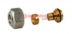 Giacomini R179 Adaptér pro trubky z umělé hmoty PEX, PB - polybutylen, chrom