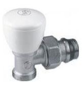 Giacomini R25TG Radiátorový ventil rohový, pro adaptér R179, R178, gumové těsnění