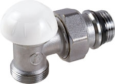 Giacomini R29TG Radiátorové šroubení regulační, rohové, pro adaptér, gumové těsnění