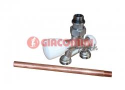 """Giacomini R356BI Dvoucestný termostatický ventil s nátrubkem, přímý 1/2"""" x18"""