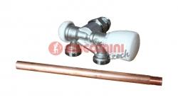 """Giacomini R357BI Dvoucestný termostatický ventil s nátrubkem, rohový, pravý 1/2"""" x 18"""
