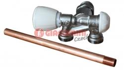 """Giacomini R358BI Dvoucestný termostatický ventil s nátrubkem, rohový, levý 1/2"""" x18"""