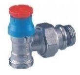 Giacomini R411TG Termostatický ventil rohový s víčkem, pro adaptér na měď nebo UH, gumové těsnění